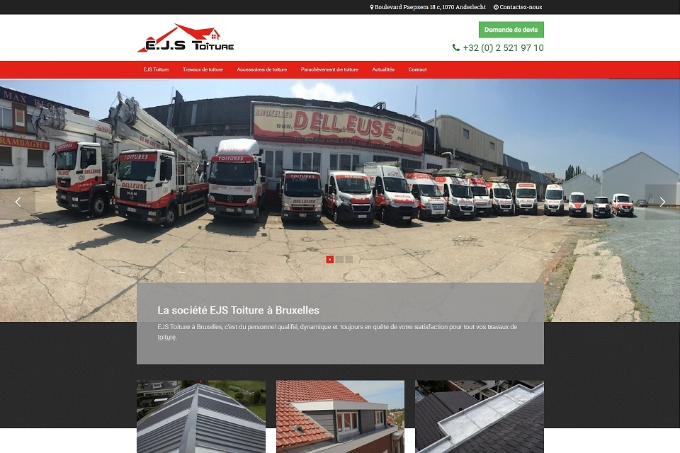 EJS Toitures - site catalogue